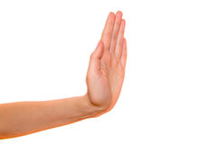 Stoppen Sie Handzeichen lizenzfreie stockfotos