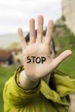 Stoppen Sie Handzeichen Stockfotos
