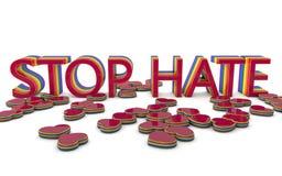 Stoppen Sie Hass-Verbrechen Stockbilder