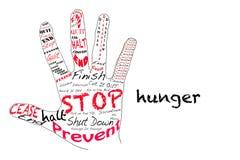 Stoppen Sie Hunger Stockbild