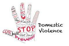 Stoppen Sie häusliche Gewalt Stockfotografie