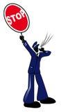 Stoppen Sie Ikone Lizenzfreie Stockfotos