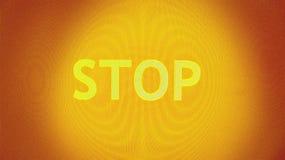 Stoppen Sie im Gelb Lizenzfreies Stockbild