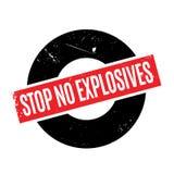 Stoppen Sie keinen Sprengstoffstempel Stockbilder