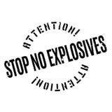 Stoppen Sie keinen Sprengstoffstempel Lizenzfreies Stockbild