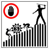 Stoppen Sie Kinderarbeit Lizenzfreies Stockfoto