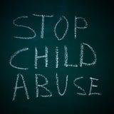 Stoppen Sie Kindesmissbrauch Stockfoto