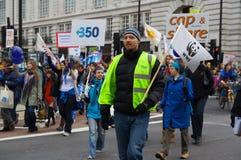 Stoppen Sie Klima-Chaos-Protest Stockbild