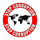 Stoppen Sie Korruption Lizenzfreie Stockfotos