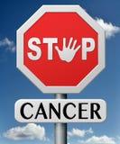 Stoppen Sie Krebs durch Verhinderung lizenzfreie abbildung