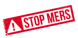 Stoppen Sie Mers-Stempel Stockfotos
