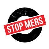 Stoppen Sie Mers-Stempel Lizenzfreie Stockbilder