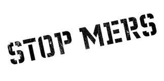 Stoppen Sie Mers-Stempel Lizenzfreies Stockbild