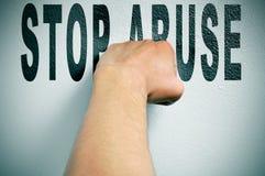 Stoppen Sie Missbrauch Stockbild