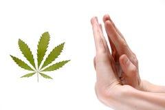 Stoppen Sie narkotisches! Lizenzfreies Stockbild