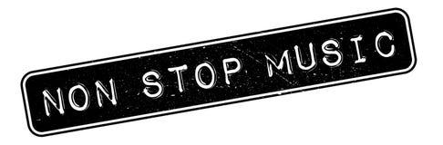 Stoppen Sie nicht Musikstempel lizenzfreie abbildung