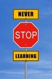 Stoppen Sie nie zu lernen Stockfotos