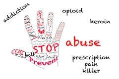 Stoppen Sie Opioidsucht lizenzfreie abbildung