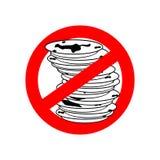 Stoppen Sie schmutzige Teller Benutzen Sie nicht schmutzigen Teller Verbieten des roten Verbotsi Stockbilder