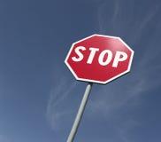 Stoppen Sie singen Stockfotografie