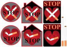 Stoppen Sie Smoke_eps Stockfoto