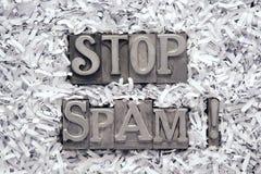 Stoppen Sie Spam Excl Stockbilder