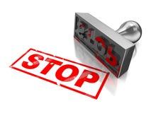 Stoppen Sie Stempel Stockfotos
