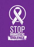 Stoppen Sie Stempel der häuslichen Gewalt Kreatives Sozialvektor-Gestaltungselement-Konzept Stockfotografie