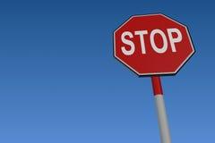 Stoppen Sie Straßen-Verkehrszeichen lizenzfreie abbildung