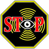 Stoppen Sie Surveilance Lizenzfreie Stockbilder