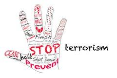 Stoppen Sie Terrorismus Stockbild