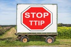 Stoppen Sie TTIP Stockfotografie