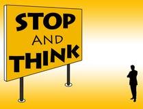 Stoppen Sie und denken Sie Stockfotografie