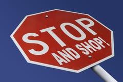 Stoppen Sie und kaufen Sie Stockfotos