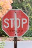 Stoppen Sie Vandalismus stockbild