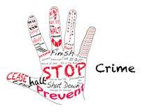 Stoppen Sie Verbrechen Stockbild
