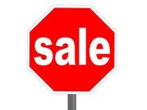 Stoppen Sie Verkauf Stockbild