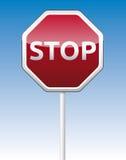 Stoppen Sie Verkehrsbrett Stockbild