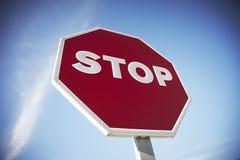 Stoppen Sie Verkehrsschild Stockfoto