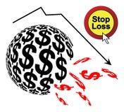 Stoppen Sie Verlust Lizenzfreies Stockbild