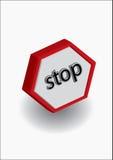 Stoppen Sie Warnung Stockbilder