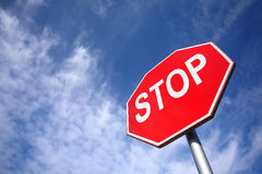 Stoppen Sie Zeichen Lizenzfreies Stockfoto