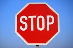 Stoppen Sie Zeichen. Stockbild