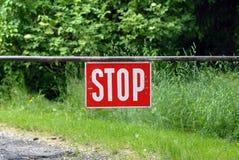Stoppen Sie Zeichen Stockbild
