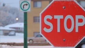 Stoppen Sie Zeichen stock footage