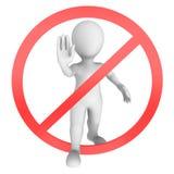 Stoppen Sie Zeichen 3D Lizenzfreie Stockfotografie