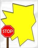Stoppen Sie Zeichen-Spant 2 Stockbild