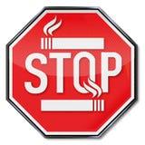 Stoppen Sie, Zeichen zu rauchen lizenzfreie abbildung