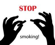 Stoppen Sie zu rauchen! stock abbildung