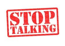 Stoppen Sie zu sprechen Lizenzfreie Stockfotografie